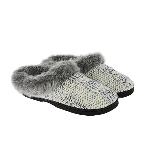 Dearfoams Chunky Novelty Knit Clog With Memorry Foam, Chaussons femme Muslin