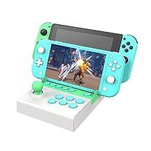 Arcade Fight Stick för Nintendo Switch och Lite, Desktop Controller Portable Machine Gamepad, Street Fighting Games Joystick Gamepad
