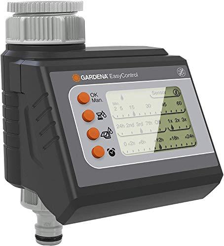 GARDENA Bewässerungscomputer EasyControl: Automatische Bewässerungssteuerung, tägliche Bewässerung oder jeden 2./3./7. Tag, bis zu drei Bewässerungen pro Tag, LC-Display, Batteriebetrieb (1881-20)