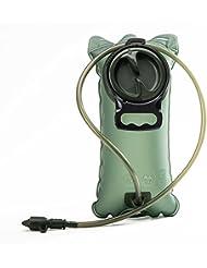 2L, antigoteo sistema de hidratación bolsa de agua mochila Depósito, con y sin BPA aprobado por la FDA, apto para al aire libre viajar bicicleta Ciclismo Camping corriendo etc., army green