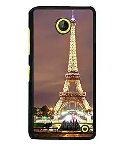 PrintVisa Designer Back Case Cover for Microsoft Lumia 630 (Aerial City Scape France Day Design Beautiful Eiffel)