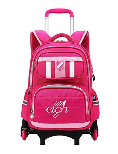 Aufrechter Koffer (Zhhlaixing Schultrolley Rucksack Trolley Schulausflüge Ausgestattet - Trolley Kinderkoffer für Kinder Camping Aufrecht Räder Wagen Schulranzen Koffer)