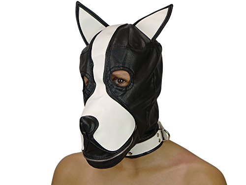 Petplay Puppy Hundemaske mit Knebel Hunde Maske Hund Dog (Maske Hund)