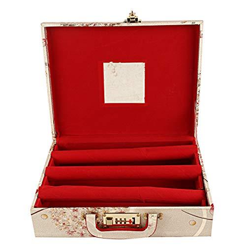 Kuber Industries Wooden Three Rod Bangle Storage Box (Assorted)-CTKTC3950