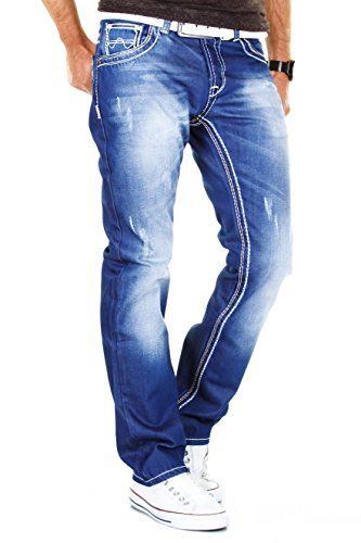 MERISH Herren Jeans 6 Modelle Alle Styles alle Farben Jeanshosen Herrenjeans 9111Blau