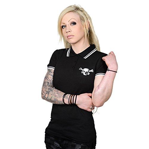 Toxico Clothing - Black OS Skull Polo Shirt XL