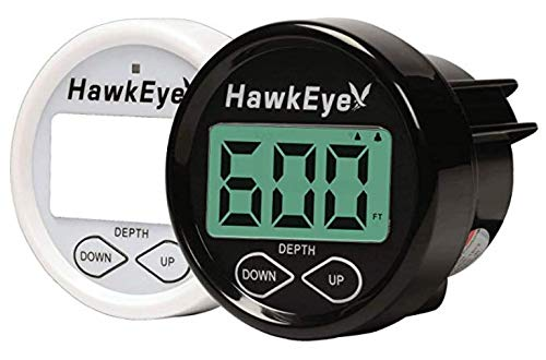 Hawkeye-INDASH Tiefe Sounder mit Luft und Wasser Temperatur, schwarz, 2
