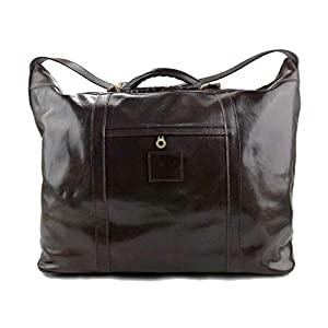 Herren ledertasche reisetasche umhangetasche mit griffe schultertasche sporttasche seesack leder dunkel braun
