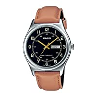 Casio Brown Leather Men Watch MTP-V006L-1B3UDF