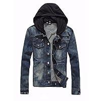 Hashoob Mens Jeans Jacket Denim Jacket DJ-01 (DJBH, XL)