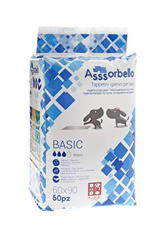 Tappetini Igienici Asssorbello Basic 60x90, 200 tappetini (4 confezioni da 50pz)