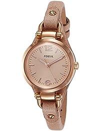 Fossil Georgia Analog Pink Dial Women's Watch - ES3262I