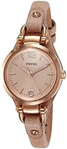 Fossil Georgia Analog Pink Dial Women's Watch - ES3262I