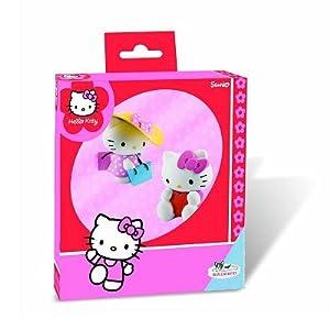Juratoys - B53402 - Figurita - Hello Kitty - caja de regalo - Hello Kitty y Hello Kitty de San Valentín Compras (Importado de Francia)