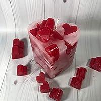 Ti amo Piccola candela a forma di cuore ripiena di cuoricini Regalo Anniversario Fidanzamento Proposta di Matrimonio San Valentino