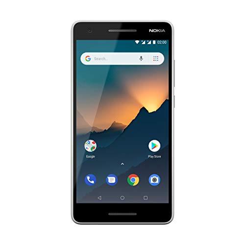 Nokia 2.1 Smartphone (5,5 Zoll HD Display, 8GB interner Speicher, 1GB RAM, 8MP Kamera, extra starker 4.000mAh Akku, Dual Sim) grau/silber, version 2018 Nokia 1 Gb Ram