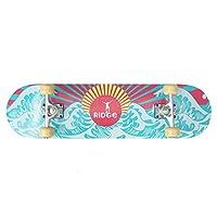 "Ridge Skateboards - 32"" x 8"" concave - Complete surf skate board - Sun Wave"