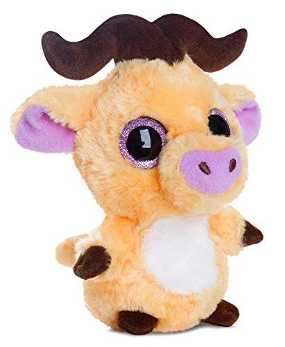 yoohoo-friends-pluschtier-buffel-kuscheltier-mit-glitzeraugen-ca-13-cm