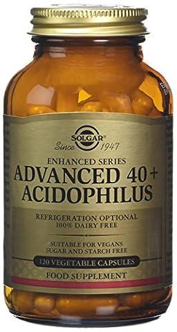 Solgar Advanced 40 Plus Acidophilus Vegetable Capsules, 120 Count