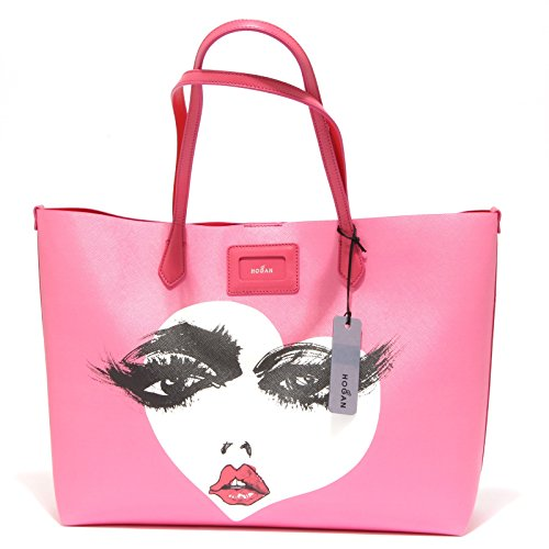 9709R borsa donna HOGAN SHOPPING BAG rosa/fuxia hand bag woman rosa/fuxia