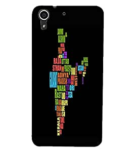 HTC DESIRE 728 MAP Back Cover by PRINTSWAG