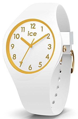 Ice-Watch - ICE glam White Gold Numbers - Reloj bianco para Mujer con Correa de silicona - 014759 (Small)