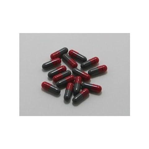 Gelatinekapseln rot/grau, Größe 4 , 100 Stück