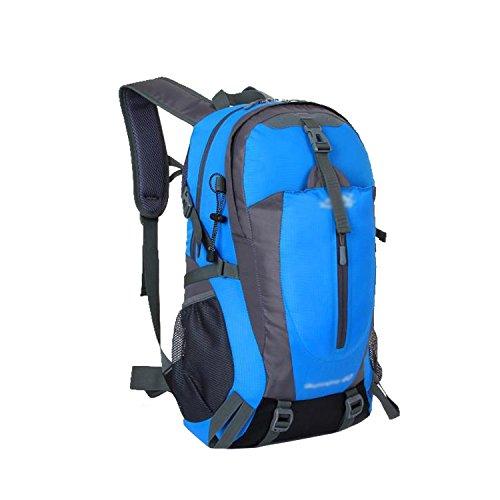 ESYN Outdoor Sports 40L Wasserdicht Reiten Radfahren Tasche Wandern Camping Rucksack Blue