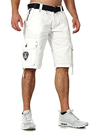 Geographical Norway bermuda shorts Padang men, Farbe:White;Hosengröße:S