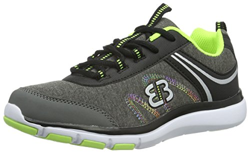 EB-Kids 591218, Baskets Basses Fille Gris (Grau/Schwarz/Lemon)