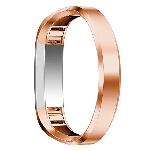 Xihama Armband für Fitbit Alta HR und Alta, Band, Gurt, Armreif, verstellbar, Ersatz-Sportband für Fitbit Alta und Alta HR Smartwatch rostfreier Stahl Fitness-Armband(Rosa)