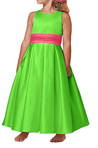 missd ressy MAEDCHEN préférée Ruban de satin col rond longue fleur MAEDCHEN robe Vert