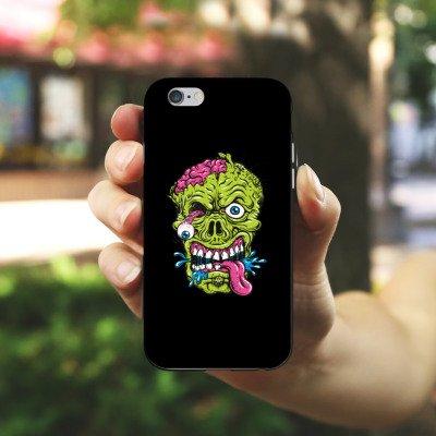 Apple iPhone 5s Housse Étui Protection Coque Zombie Halloween Effrayant Housse en silicone noir / blanc