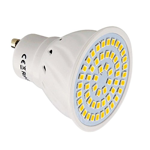 JIALUN-LED GU10 54LED 5W 2835SMD 400-500Lm 4000-4500K Proyector LED blanco natural AC...