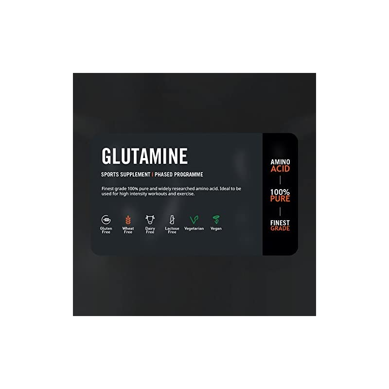 THE PROTEIN WORKS Pure Glutamine Powder   Vegan Amino Acid Powder   Post Workout Shake   Aids Recovery   Unflavoured…