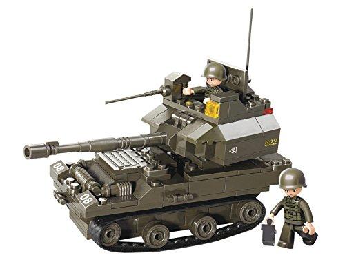 Funstones - Baustein Set Army Armee Ketten schützen Panzer + Soldaten Bausteine Bausatz Set