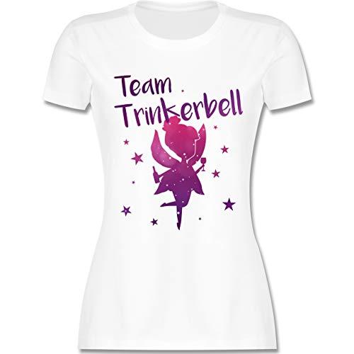 JGA Junggesellinnenabschied - Team Trinkerbell - S - Weiß - L191 - Damen T-Shirt Rundhals