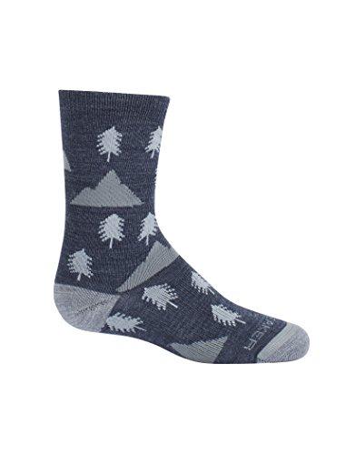 Icebreaker Kinder Woodsy Lifestyle Ultra Light Crew Walk Outdoor-Socken (Wolle Socken Kinder Merino)