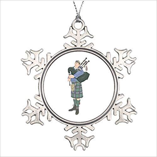 Monsety Touytlyd Kilt Personalisierte Weihnachtsinstrument Pfeife Piper Schottische Musik 2018 Weihnachten Schneeflocke Ornament Lustig Urlaub Weihnachten Baum Dekoration Geschenk -