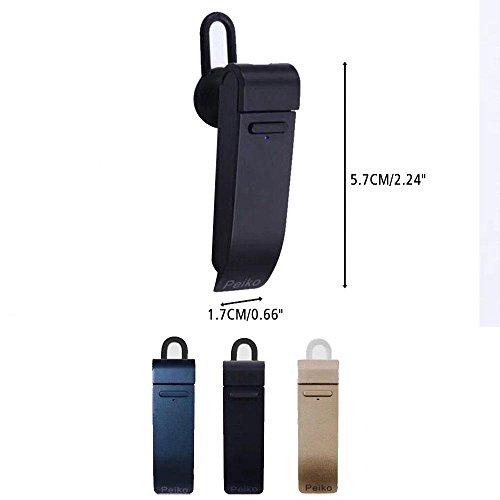 Sofortige Übersetzung Gerät Smart Wireless Bluetooth Headset, AOLVO Sprache Übersetzen Kopfhörer 4.2in Ohr Ohrhörer in-ear Kopfhörer mit Geräuschunterdrückung, Hände frei für iPhone und Android schwarz
