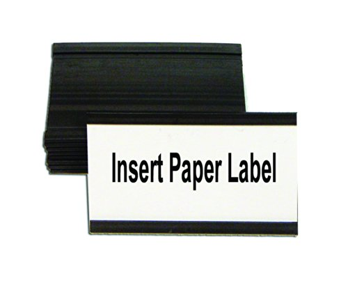 Magnetic Card Holders, 3w x 1-3/4h, Black, 10/Pack, Sold as 1 Package