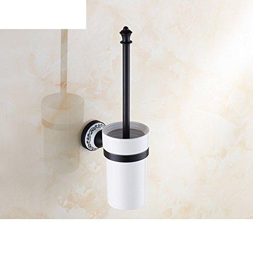 YAOHAOHAO Wc-Bürste schwarz/Antik voll Kupfer WC Bürstenhalter Anzug/Wc Schale/Geschnitzt vintage Keramik WC Bürstenhalter