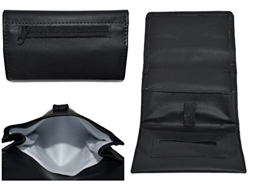 Shine Leather Tobacco Pouch Soft PU Fully Lined Black Colour Great Quality