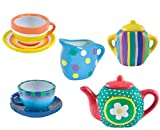 #3: Oasis Webby DIY Kitchen Ceramic Tea Set for Kids - 9 Pieces