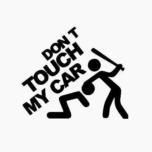 Beito Berühren Sie Nicht Mein Auto Lustige Vinyl Aufkleber Auto-Fenster-Aufkleber (Schwarz)