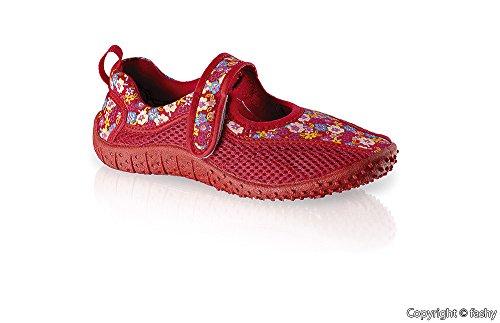 Fashy 7497–enfants chaussures aquatiques chaussures taille 28–35/2 couleurs de sandales de plage Rouge - Rouge