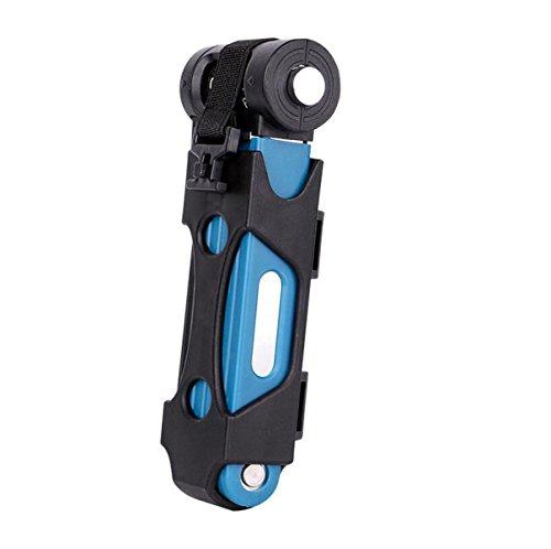 Vous Pouvez Verrouiller Anti-vol De Cisaillement Hydraulique Antiblocage Verrouillage Moto Serrure électrique VTT Plié,Blue