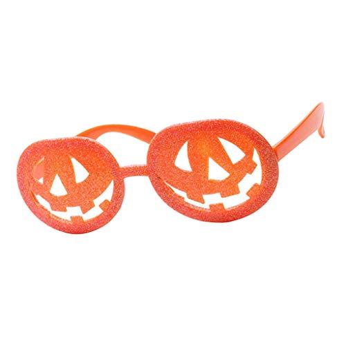 F Fityle Damen Herren Party-Brille Spaß-Brille Dekobrille Karnevalbrille Brille Gläser Sonnenbrille für Kostüm Party Club Tanz Props - (Kürbis Tanz Kostüm)