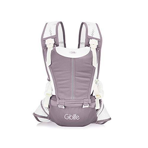 Mochila Portabebé 4 en 1 de Diseño Ergonómico con Múltiples Posiciones Ajustable Portadores Marsupios para Recién Nacidos/Bebés Dos cinturones de repuesto para Verano y Invierno