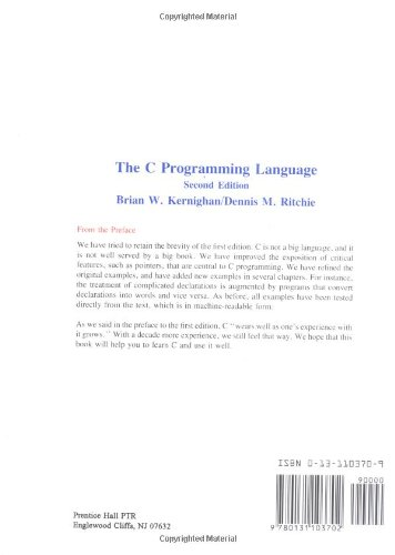 The C Programming Language (Prentice-Hall Software Series)